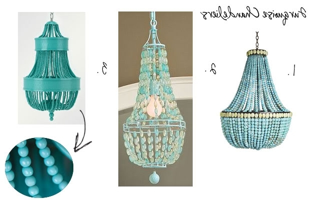 Well Known Turquoise Empire Chandeliers With Regard To Spring 2010 – Oceanic Interpretations + Understated Elegance (View 8 of 10)