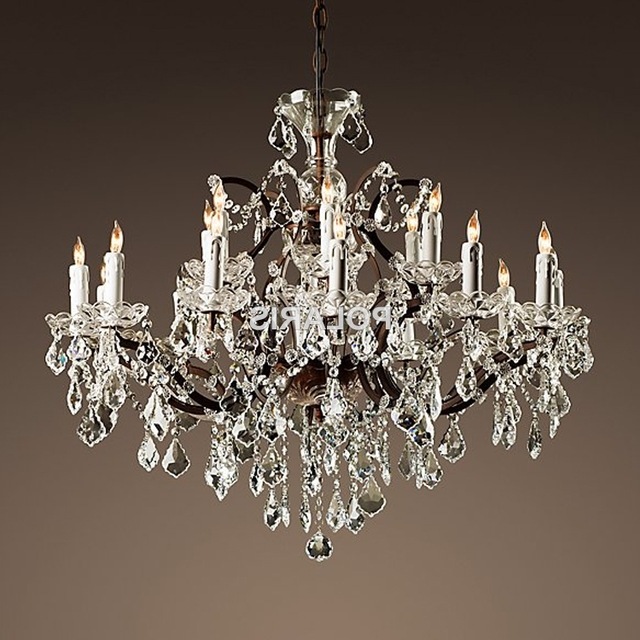 Well Known Vintage Rustic Crystal Chandelier Lighting Candle Chandeliers Pertaining To Small Rustic Crystal Chandeliers (View 10 of 10)