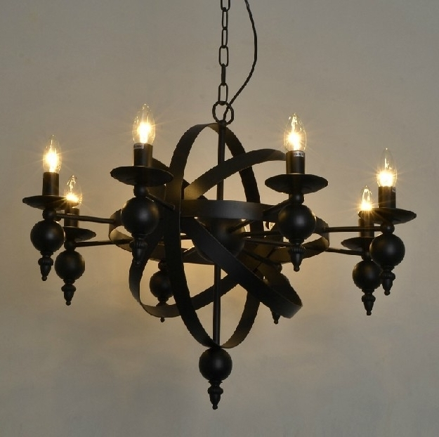 Well Known Vintage Wrought Iron Chandelier Regarding Aliexpress Buy Industiral Pendant Lamp Chandelier Rural Vintage (View 10 of 10)