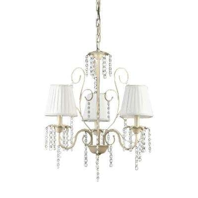 Well Known White And Crystal Chandeliers Intended For White – Crystal – Chandeliers – Lighting – The Home Depot (View 7 of 10)