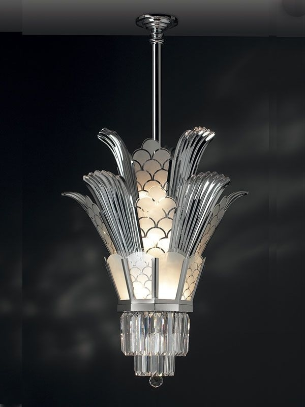 Well Liked Art Deco Chandelier Pertaining To Bespoke Art Deco Chandeliersandy Thornton / Bibis Criterion (View 7 of 10)
