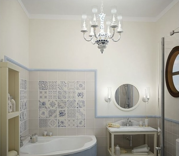 Well Liked Bathroom Chandelier Lighting Throughout Classic Pendant Chandelier Bathroom Lighting Ideas For Small (View 10 of 10)