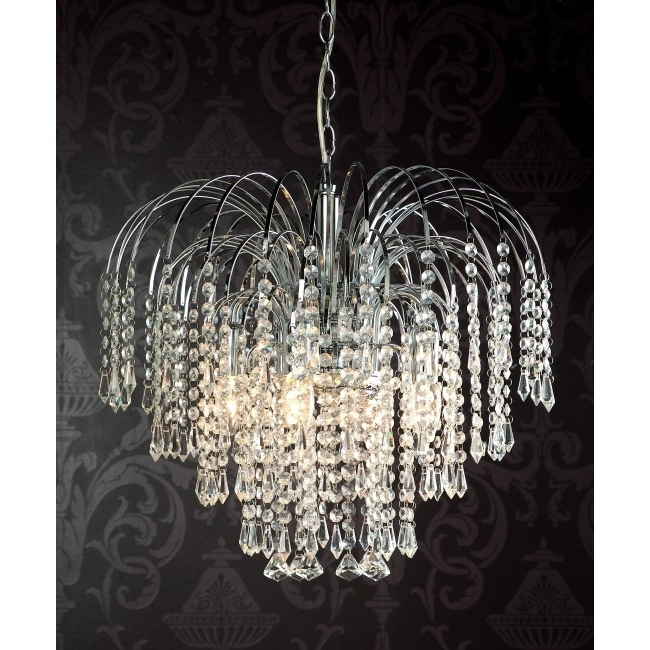 Featured Photo of Crystal Waterfall Chandelier