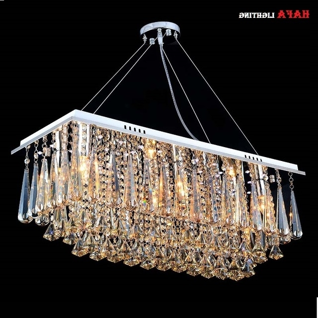 Well Liked Chandeliers Dining Room Rectangle Crystal Pendant Chandelier Light Within Light Fitting Chandeliers (View 10 of 10)