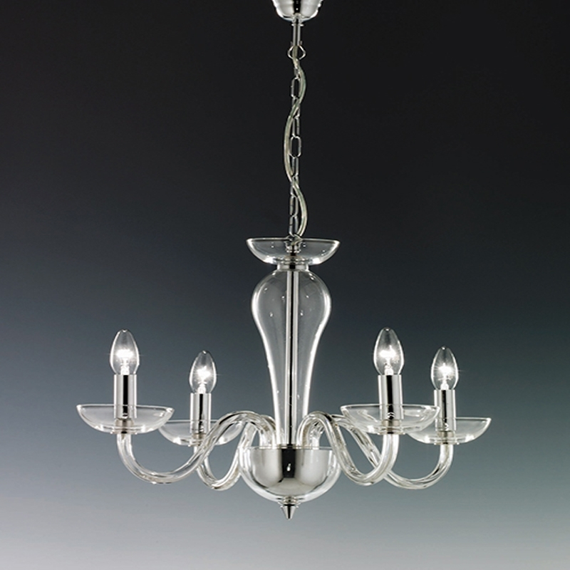 Well Liked Chrome And Glass Chandeliers With Elstead Oxford 8 Light Chrome Glass Ceiling Chandelier Ox8 Intended (View 10 of 10)