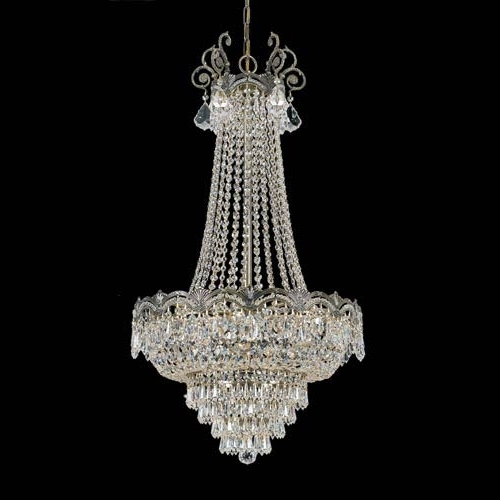 Well Liked Crystal Chandeliers For Crystorama Lighting Group Majestic Historic Brass Eight Light (View 8 of 10)