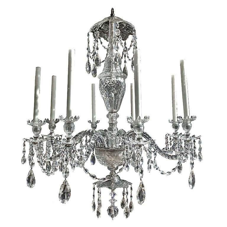 Well Liked Good Early 19Th Century English Georgian Crystal 8 Light Chandelier Inside Georgian Chandelier (View 10 of 10)