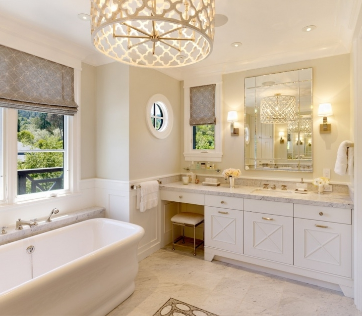 Well Liked Inspiring Chandelier Bathroom Lighting Chandelier Bathroom Vanity Pertaining To Chandelier Bathroom Lighting (View 10 of 10)
