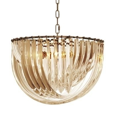 Well Liked Murano Champagne Acrylic Short Chandelier (View 10 of 10)