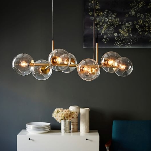 West Elm Intended For Latest Glass Chandelier (View 10 of 10)