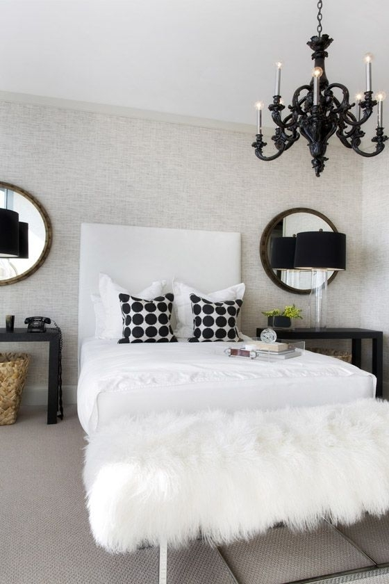 White Chandelier, Chandeliers With Current Black Chandelier Bedroom (View 5 of 10)