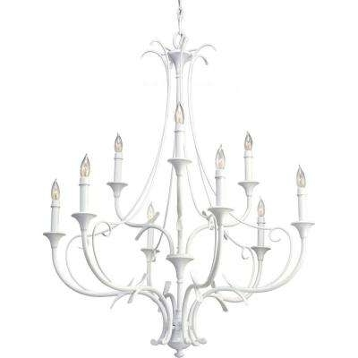 White – Feiss – Candle Style – Chandeliers – Lighting – The Home Depot Within Most Recent White Chandeliers (View 8 of 10)
