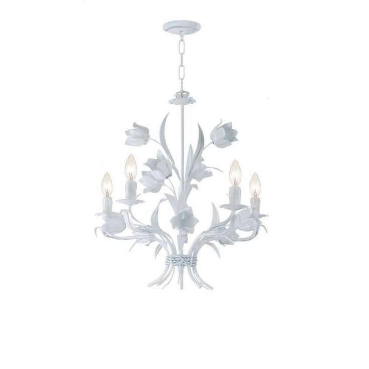 White Pertaining To Small White Chandeliers (View 10 of 10)
