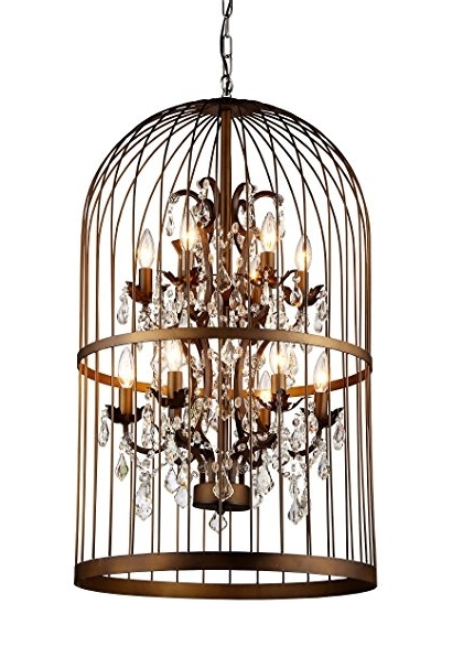 Whse Of Tiffany Rl8058B Rinee Cage Chandelier – – Amazon Throughout Newest Caged Chandelier (View 10 of 10)