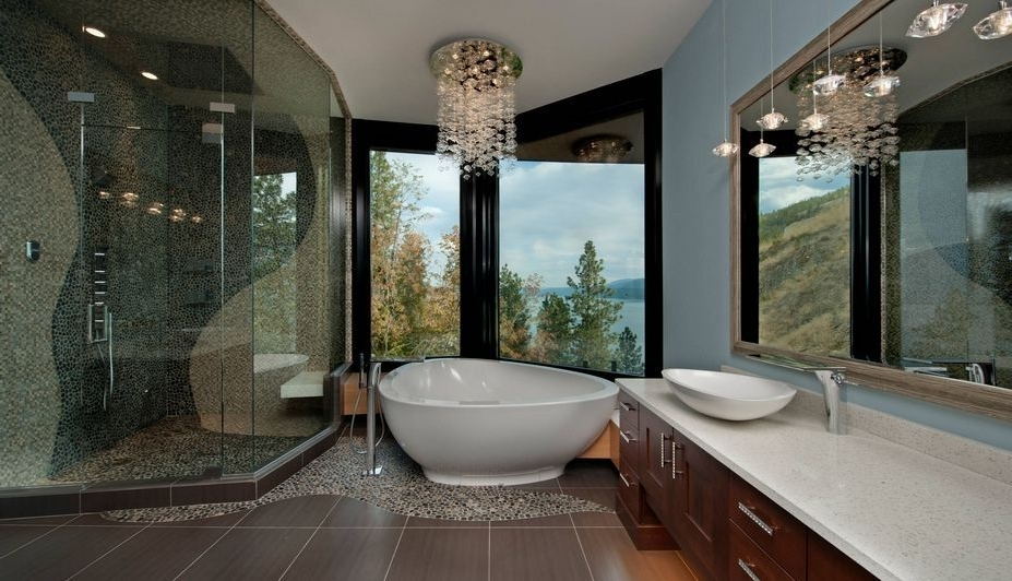 Widely Used 50 Bathrooms That Know To Make The Most Of Great Views (View 10 of 10)