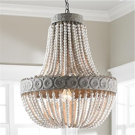 Widely Used Aged Wood Beaded Chandelier (View 10 of 10)