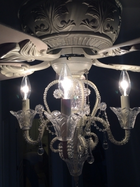 Widely Used Alluring Ceiling Fan Light Kit Crystal Chandelier Fans Home Design Intended For Chandelier Light Fixture For Ceiling Fan (View 10 of 10)