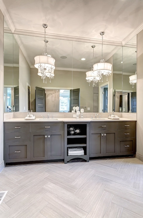 Widely Used Chandelier Bathroom Vanity Lighting Within Captivating Chandelier Bathroom Vanity Lighting 10 Bathroom Vanity (View 4 of 10)