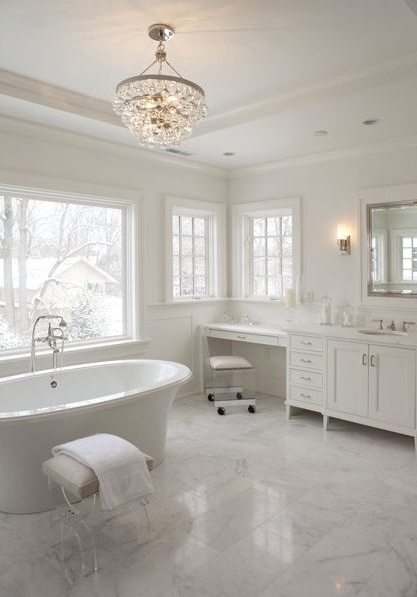 Widely Used Chandeliers For Bathrooms Inside The Light Fixture And Tile In This Bathroom Are To Die For! (View 10 of 10)
