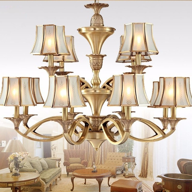 Widely Used Copper Chandeliers With Copper Chandeliers Lighting Luxury Home Lighting Fixture Abajour (View 10 of 10)