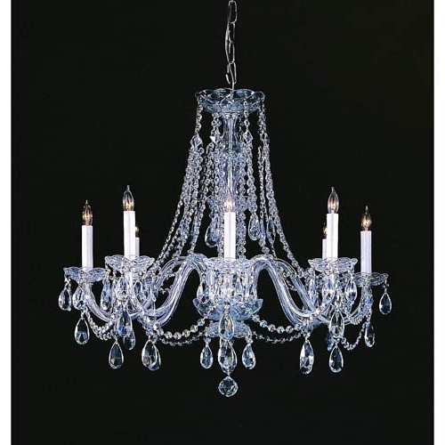 Widely Used Crystal Chandeliers With Regard To Crystorama Lighting Group Traditional Crystal Polished Chrome Eight (View 9 of 10)