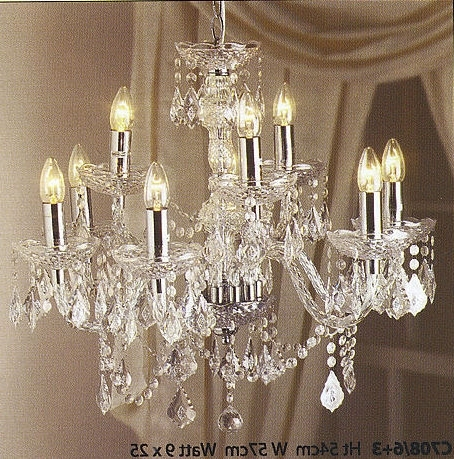 Widely Used Crystal Effect Chandeliers Available From Steven Amin Glaziers In Acrylic Chandeliers (View 10 of 10)