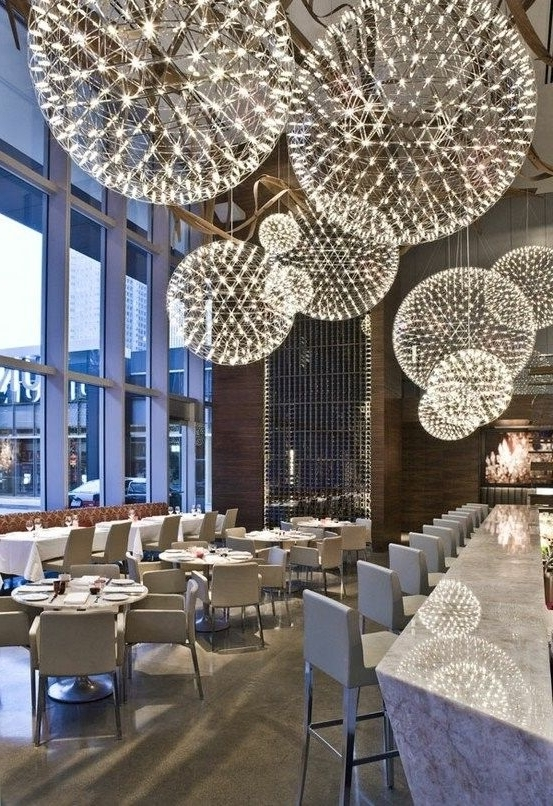 Widely Used Dandelion Chandeliers Aria Restaurant In Toronto, Canada Intended For Restaurant Chandeliers (View 5 of 10)