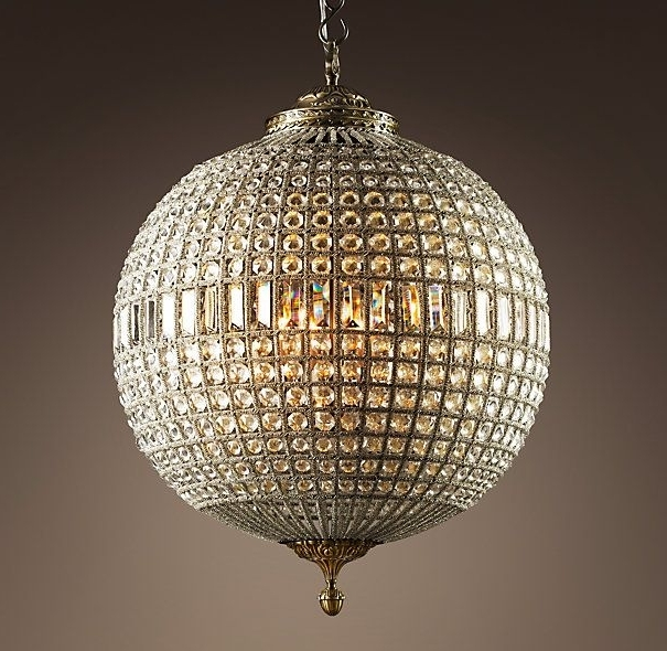 Widely Used Globe Crystal Chandelier Inside 19Th C. Casbah Crystal Chandelier (View 10 of 10)