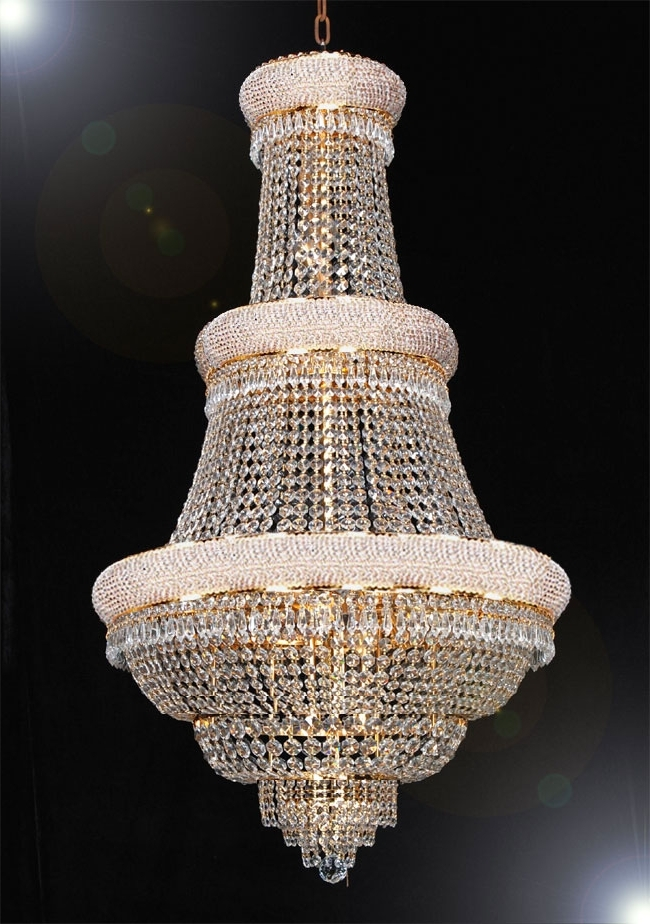 Widely Used Huge Chandeliers Pertaining To Huge Crystal Chandeliers – Chandelier Designs (View 10 of 10)