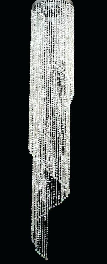 Widely Used Long Chandelier Lights And Super Sized Beaded Spiral Chandelier Long Inside Long Chandelier Light (View 9 of 10)