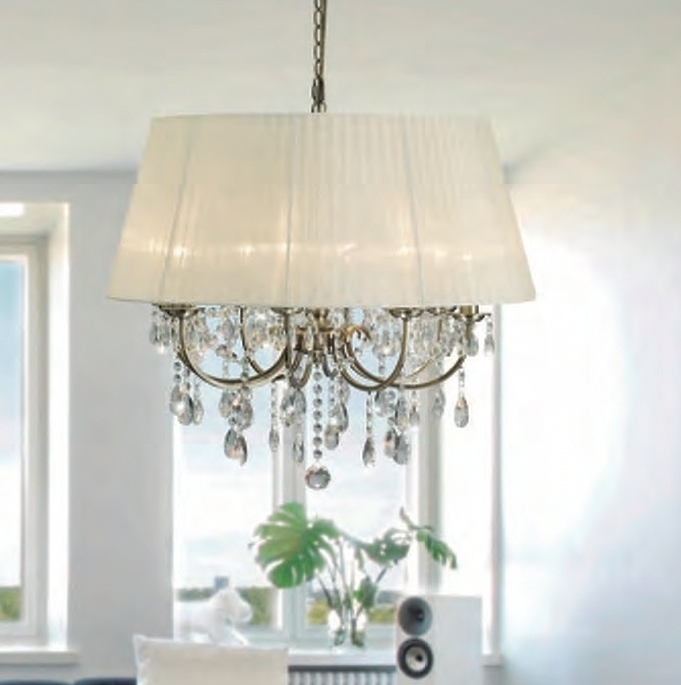 Widely Used Madmoiselle Cream Shaded Crystal Chandelier Intended For Cream Crystal Chandelier (View 10 of 10)