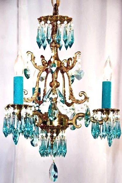 Widely Used Turquoise Chandelier Lamp Shades Intended For Turquoise Chandelier Light Turquoise Chandelier Lamp Shades – Pinkfolio (View 10 of 10)
