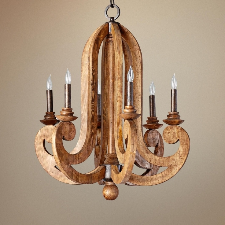 Widely Used Wooden Chandeliers With Lighting: Dazzling Wooden Chandeliers For Home Accessories Ideas (View 6 of 10)