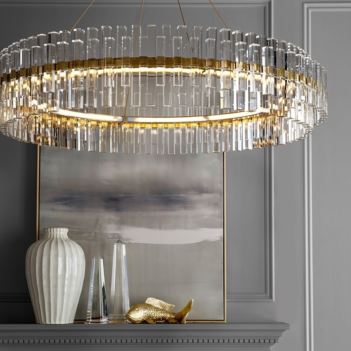 Williams Sonoma With Regard To Crystal And Brass Chandelier (View 10 of 10)
