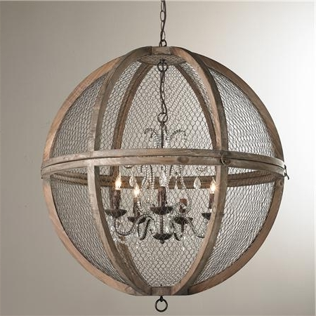 Wire Sphere Crystal Chandelier – Large (View 10 of 10)