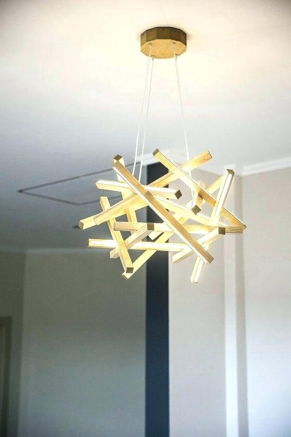 Wooden Chandeliers For Newest Chandeliers Led Also Wooden Chandeliers Wooden Chandelier Led Lamp (View 7 of 10)