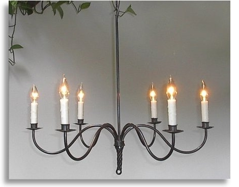 Wrought Iron Chandeliers Within 2017 Wrought Iron Chandelier (View 10 of 10)