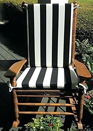 2017 Outdoor Rocking Chairs With Cushions Inside Rocking Chair Cushion Set Indoor Outdoor Rocking Chair Cushions (View 1 of 20)