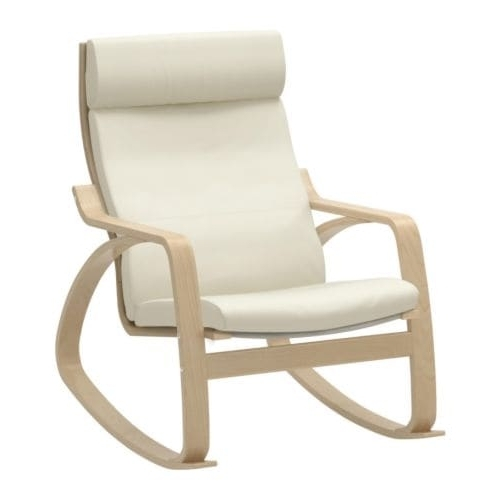 2017 Rocking Chairs At Ikea Within Poäng Rocking Chair Birch Veneer/glose Eggshell – Ikea (Gallery 5 of 20)