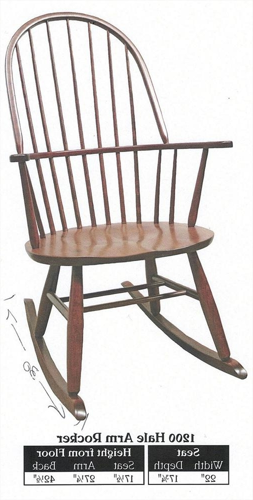 2017 Rocking Chairs With Lumbar Support Within This Amish New England Rocking Chair Furniture Hardwood Lumbar (View 1 of 20)