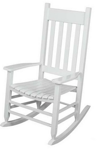 2017 White Rocking Chair $54 (From $99) – My Frugal Adventures Intended For Lowes Rocking Chairs (View 1 of 20)