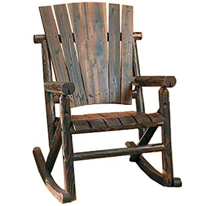 2018 Amazon : Char Log Single Rocker : Rocking Chairs : Garden & Outdoor Intended For Char Log Patio Rocking Chairs With Star (View 2 of 20)