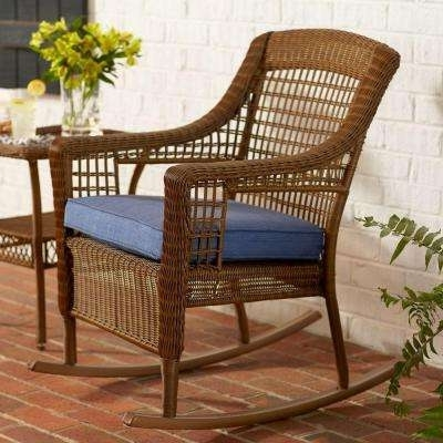 2018 Outdoor Patio Rocking Chairs With Weather Resistant – Rocking Chairs – Patio Chairs – The Home Depot (View 17 of 20)