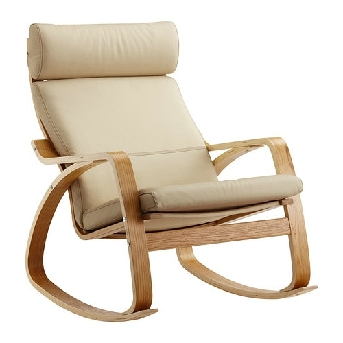 2018 Poäng Rocking Chair Oak Veneer/glose Eggshell – Ikea For Rocking Chairs At Ikea (View 6 of 20)