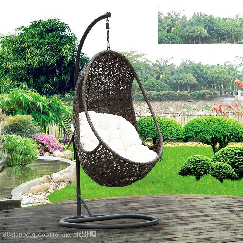 2018 Rattan Basket Rocking Chair,garden Rattan/wicker Swing Chair In 2018 Rocking Chairs For Garden (View 1 of 20)