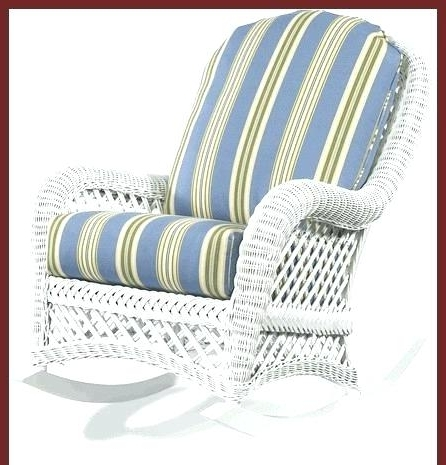 2018 Resin Wicker Rocking Chair Resin Rocking Chair Outdoor Wicker Rocker Pertaining To White Wicker Rocking Chairs (View 1 of 20)