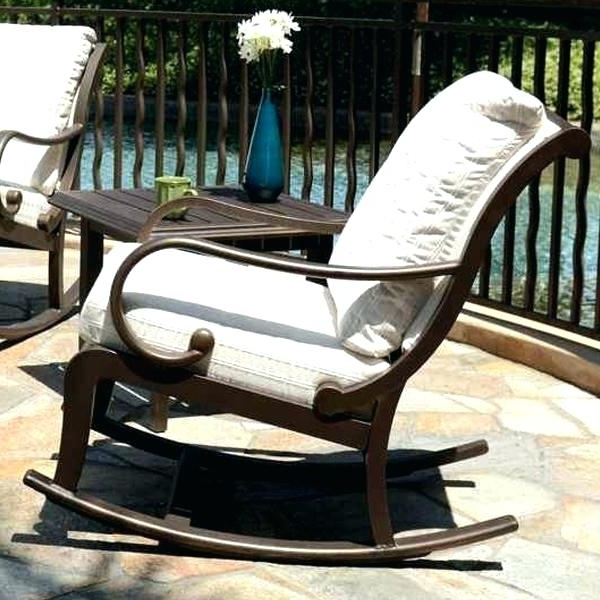 2018 Rocking Chair For Porch Patio Rocking Chair Plain Unique Outdoor In Patio Rocking Chairs Sets (View 2 of 20)