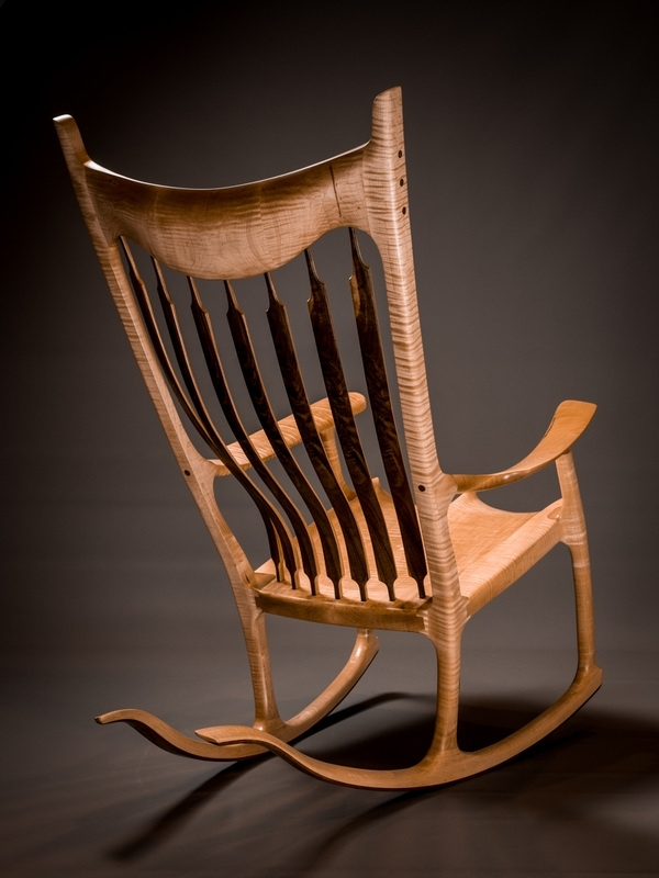 2018 Rocking Chairs And Solid Wood Fine Furniture Hand Made In Houston Throughout High Back Rocking Chairs (View 2 of 20)