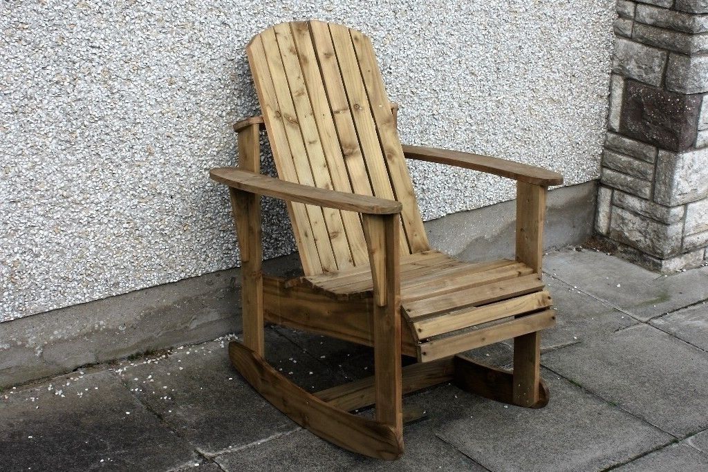 2018 Rocking Chairs For Garden Pertaining To Adirondack Garden Chair Garden Rocking Chairs Seat Furniture Set (View 2 of 20)