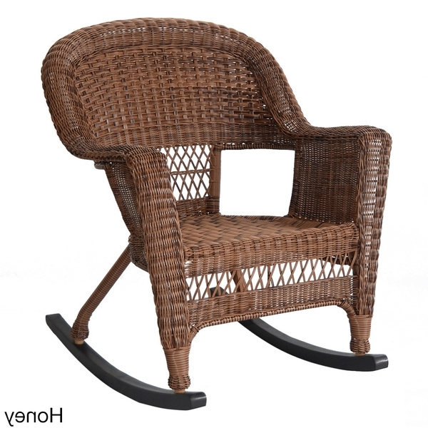 2018 Shop Wicker Rocker Patio Chairs (Set Of 2) – Free Shipping Today Regarding Wicker Rocking Chairs Sets (View 1 of 20)